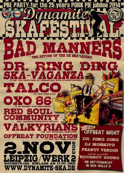 Dynamite Ska Festival Leipzig - Pre Party zum 25 Jahre PORK PIE Silver Jubilee