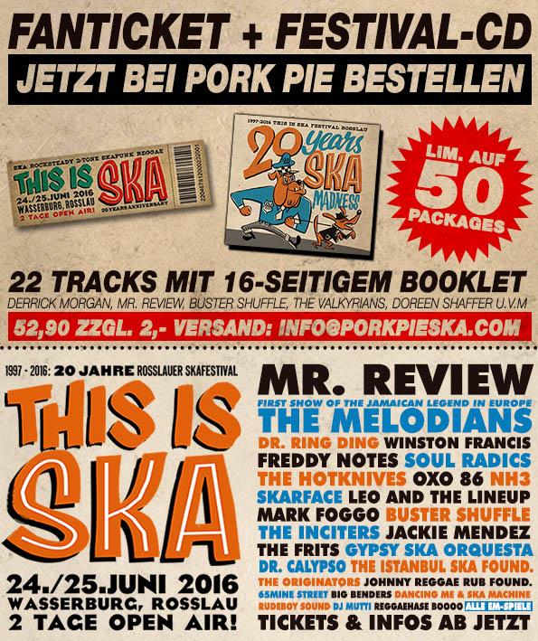 FAN TICKET THIS IS SKA 2016 + FESTIVAL CD