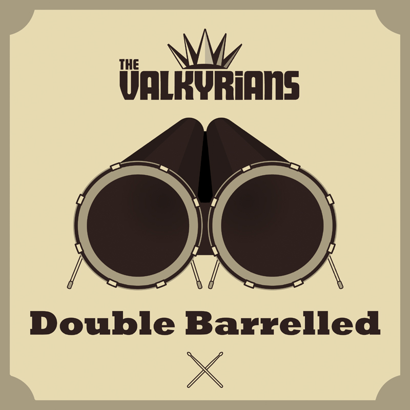 VALKYRIANS on tVALKYRIANS on tour with DOUBLE BARRELLED relaunch our with DOUBLE BARRELLED  in the trunk