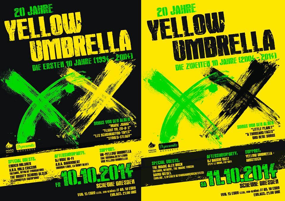 Yellow Umbrella - Glückwunsch zum 20-jährigen Jubiläum